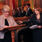 NFWI Chair Ruth Bond and Baroness Pitkeathley