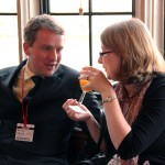 NCVO's Karl Wilding with Georgina Brewis of the Institute of Education