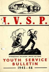 Youth Service Bulletin by kind permission of International Voluntary Service. The IVS archive is deposited at Hull History Centre
