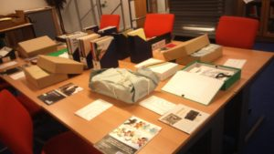 Some of the collection ready for use. Image courtesy of the Refugee Archive