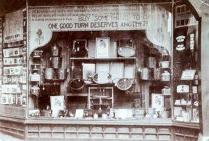 St Dunstan's shop window