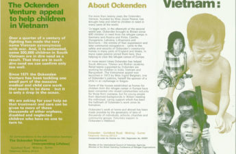 Leaflet for Vietnam appeal