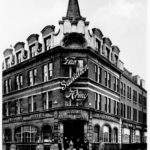 A black and white photograph of the Salvation Army's Trade HQ on Judd Street.